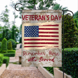 Veterans Day Remember Those Served Garden Flags | House Flags | Double Sided Decorative Yard Flag For Spring Summer Fall Winter