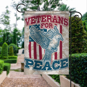 Veterans For Peace Garden Flags | House Flags | Double Sided Decorative Yard Flag For Spring Summer Fall Winter