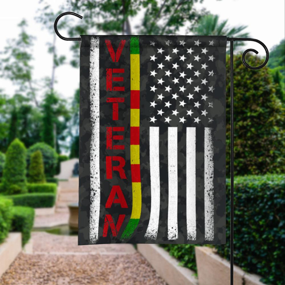 Vietnam Veterans Vintage American Garden Flags | House Flags | Double Sided Decorative Yard Flag For Spring Summer Fall Winter
