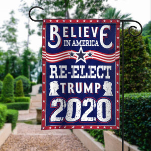 Donald Trump 2020 Keep America Great President 45  American Garden House Flags | Double Sided Decorative Yard Flag For Spring Summer Fall Winter