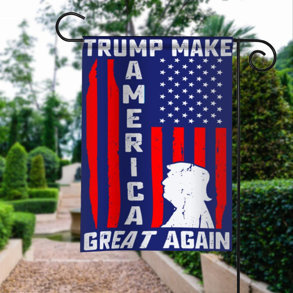 Donald Trump 2020 Make America Great Again President 45 Garden Flags | House Flags | Double Sided Decorative Yard Flag For Spring Summer Fall Winter