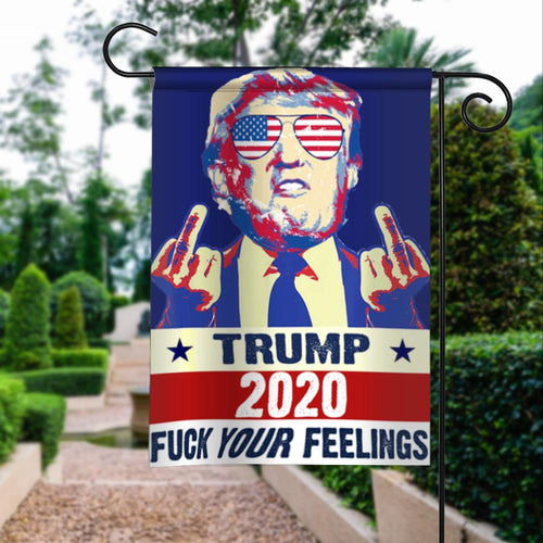 Donald Trump Train 2020 Fk Your Feelings President 45 Garden Flags | House Flags | Double Sided Decorative Yard Flag For Spring Summer Fall Winter