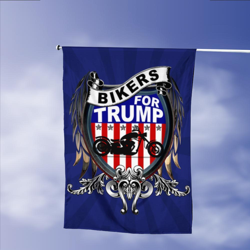 Bikers For Donald Trump 2020 Keep America Great President 45 American Garden Flags | House Flags | Double Sided Decorative Yard Flag Without Pole For Spring Summer Fall Winter