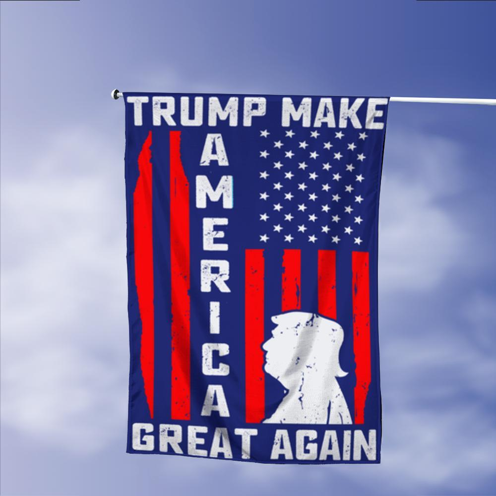 Donald Trump 2020 Make America Great Again President 45 Garden Flags | House Flags | Double Sided Decorative Yard Flag Without Pole For Spring Summer Fall Winter