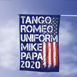 Donald Trump 2020 Tango Romeo Uniform Mike Papa Vintage American Garden Flags | House Flags | Double Sided Decorative Yard Flag Without Pole For Spring Summer Fall Winter