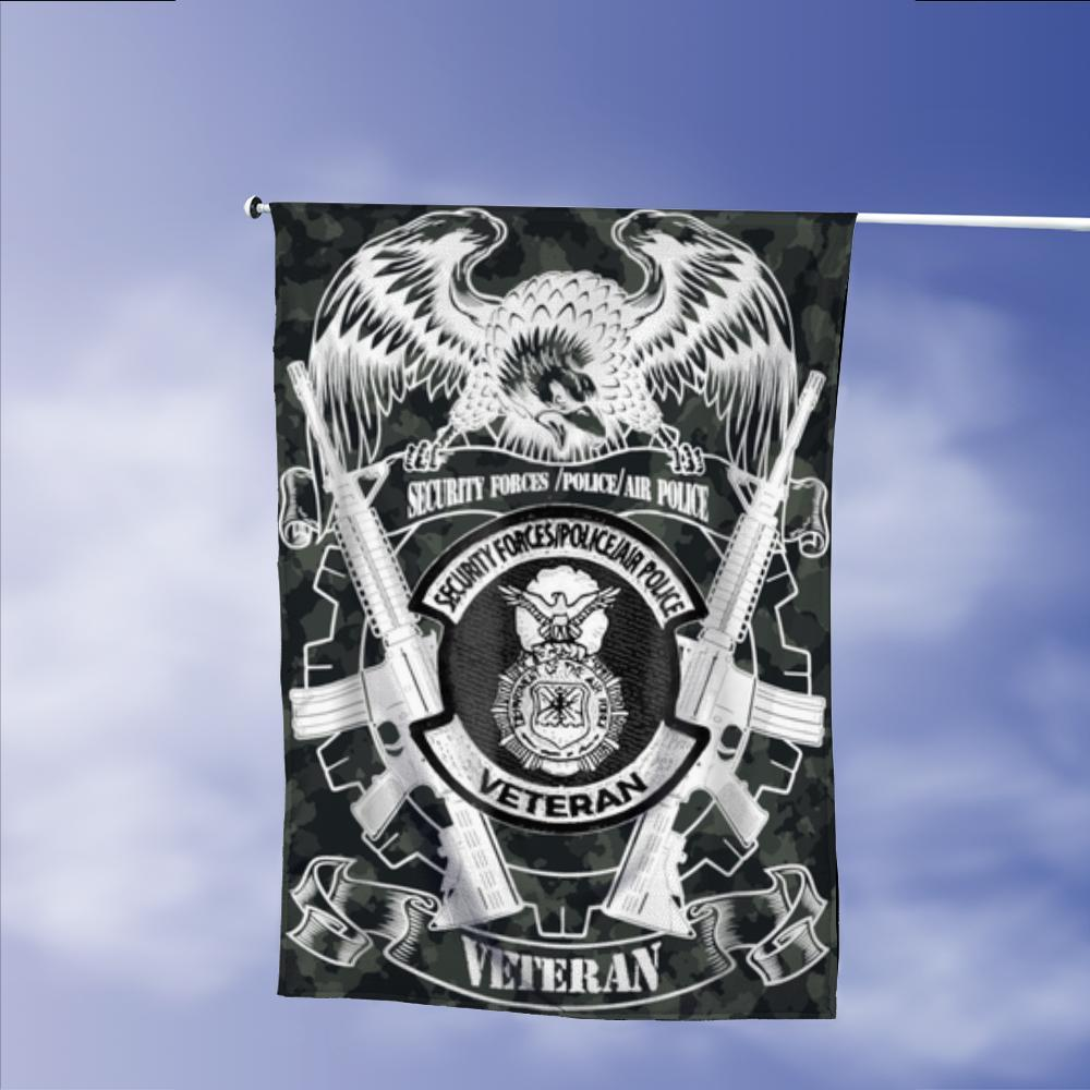US Veterans Security Force Police Air Force Garden Flags | House Flags | Double Sided Decorative Yard Flag Without Pole For Spring Summer Fall Winter