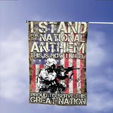 Veterans I Stand For The National Anthem This Is How I Kneel Garden Flags | House Flags | Double Sided Decorative Yard Flag Without Pole For Spring Summer Fall Winter