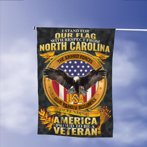 Stand For Our Flag North Carolina Veteran Garden Flags | House Flags | Double Sided Decorative Yard Flag Without Pole For Spring Summer Fall Winter