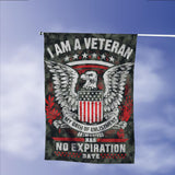 Veteran Oath No Expiration Date Garden Flags | House Flags | Double Sided Decorative Yard Flag Without Pole For Spring Summer Fall Winter