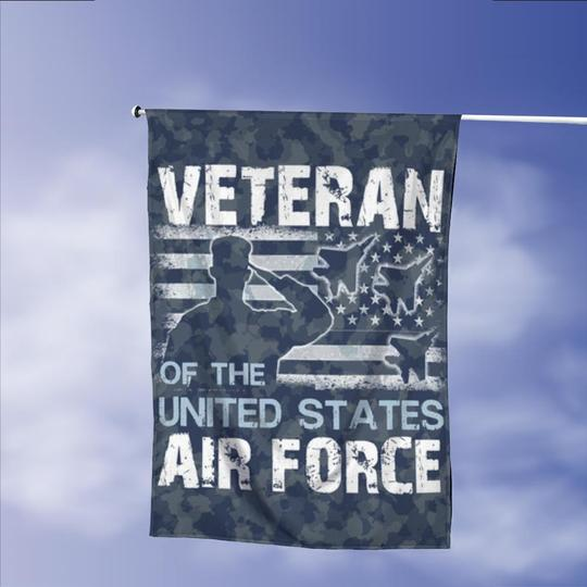 Veterans Air Force American Vintage Garden Flags | House Flags | Double Sided Decorative Yard Flag Without Pole For Spring Summer Fall Winter