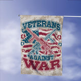 Veterans Against War Garden Flags | House Flags | Double Sided Decorative Yard Flag Without Pole For Spring Summer Fall Winter