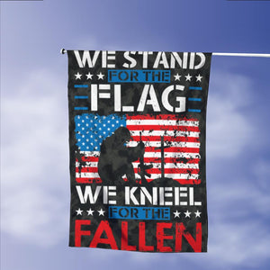 Stand For Flag Kneel For The Fallen Garden Flags | House Flags | Double Sided Decorative Yard Flag Without Pole For Spring Summer Fall Winter