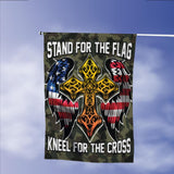 Stand For Flag Kneel For Cross Christian Garden Flags | House Flags | Double Sided Decorative Yard Flag Without Pole For Spring Summer Fall Winter
