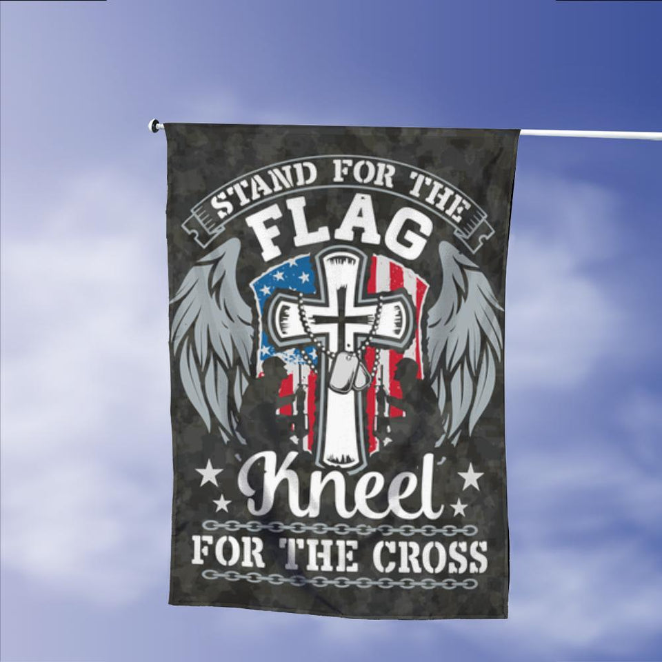 Stand For Flag Kneel For Cross Garden Flags | House Flags | Double Sided Decorative Yard Flag Without Pole For Spring Summer Fall Winter