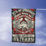 Proud American Veteran Defend Freedom Garden Flags | House Flags | Double Sided Decorative Yard Flag Without Pole For Spring Summer Fall Winter
