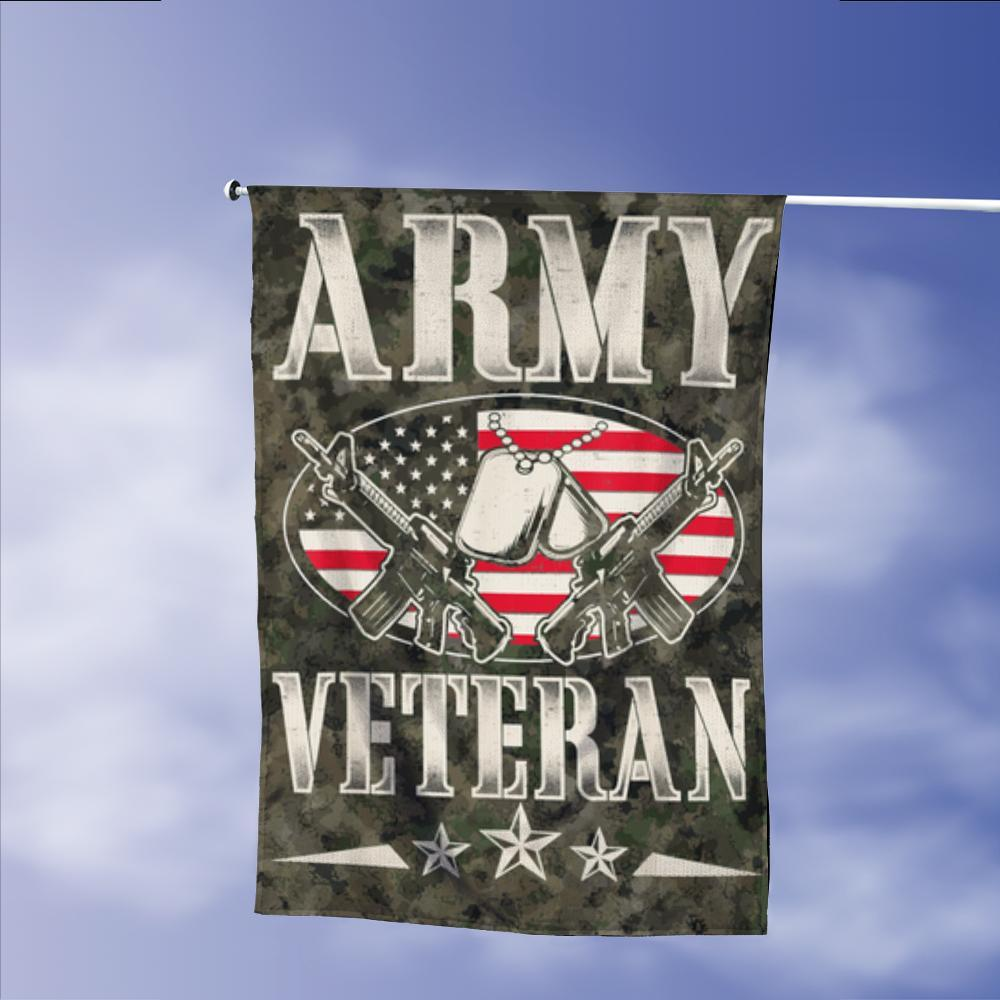 Army Veterans Vintage American Garden Flags | House Flags | Double Sided Decorative Yard Flag Without Pole For Spring Summer Fall Winter