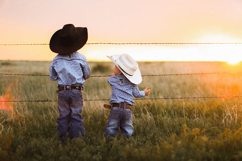 Matching Western Wear for Kids
