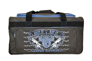 "2020 Large 30"" Gear Bag Dk Heather Brown & Blue from Cowboy Hardware"