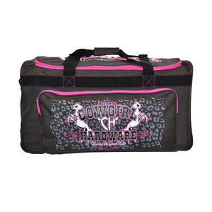 "2020 Large 30"" Gear Bag Dk Heather Brown & Pink from Cowgirl Hardware"