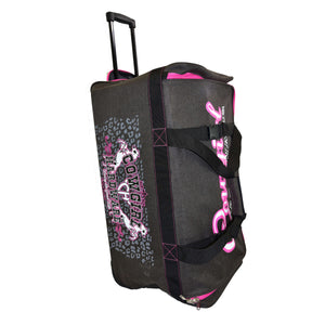 "2020 Large 30"" Gear Bag Dk Heather Brown & Pink Side View 2 from Cowgirl Hardware"