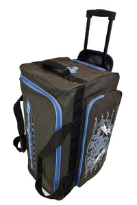 "2020 Medium 26"" Gear Bag Dk Heather Brown & Blue 2 from Cowboy Hardware"