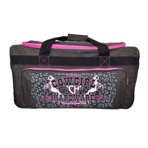 "2020 Medium 26"" Gear Bag Dk Heather Brown & Pink from Cowgirl Hardware"