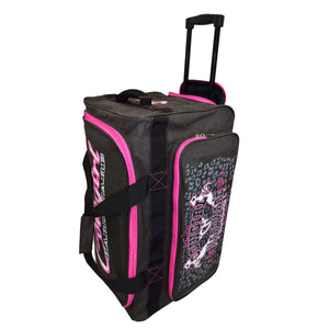 "2020 Medium 26"" Gear Bag Dk Heather Brown & Pink Side View 2 from Cowgirl Hardware"