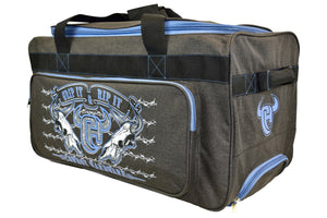 "2020 Small 20"" Gear Bag Dk Heather Brown & Blue from Cowboy Hardware"