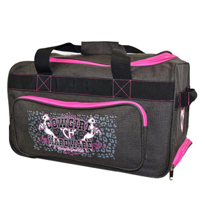 "2020 Small 20"" Gear Bag Dk Heather Brown & Pink from Cowgirl Hardware"