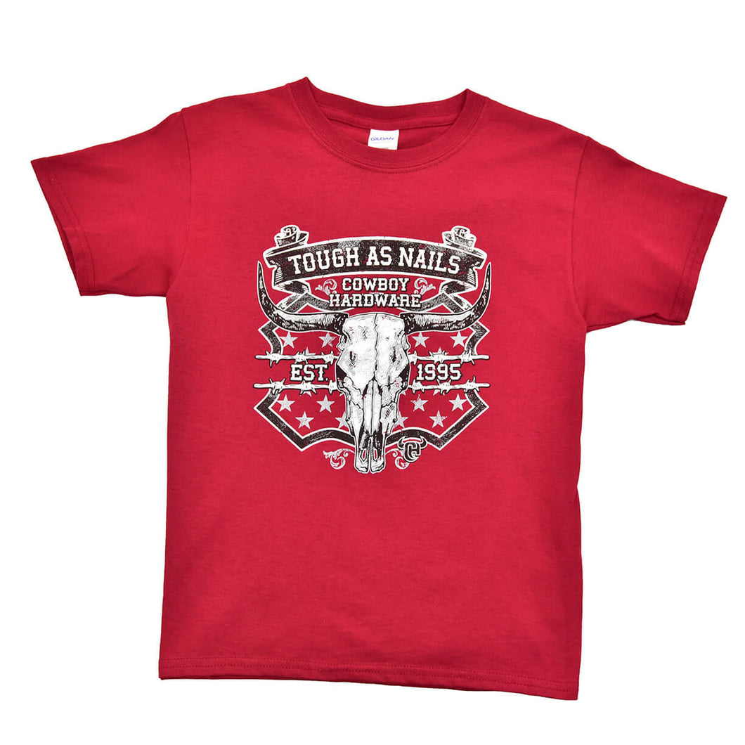 Boy's Tough As Nails Short Sleeve Tee from Cowboy Hardware
