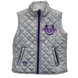 Infant/Toddler Girl's Cowgirl Horseshoe Silver Quilted Vest from Cowgirl Hardware