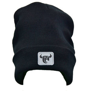 Men's CH Logo Black Knit Beanie from Cowboy Hardware