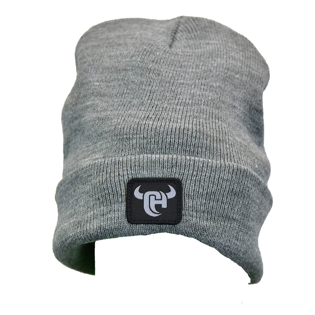 Men's CH Logo Grey Heather Knit Beanie from Cowboy Hardware