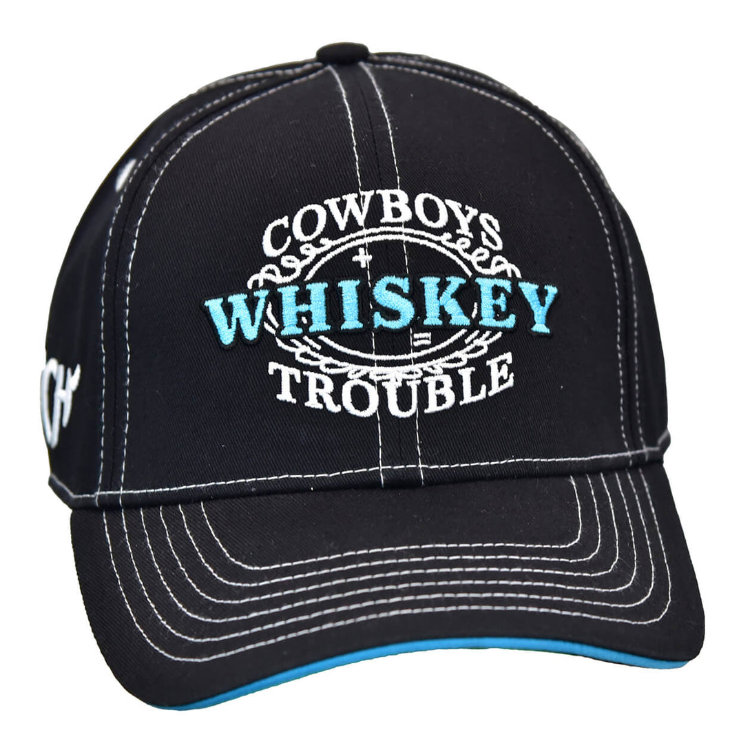 Women's Whiskey Black Snapback Cap from Cowgirl Hardware