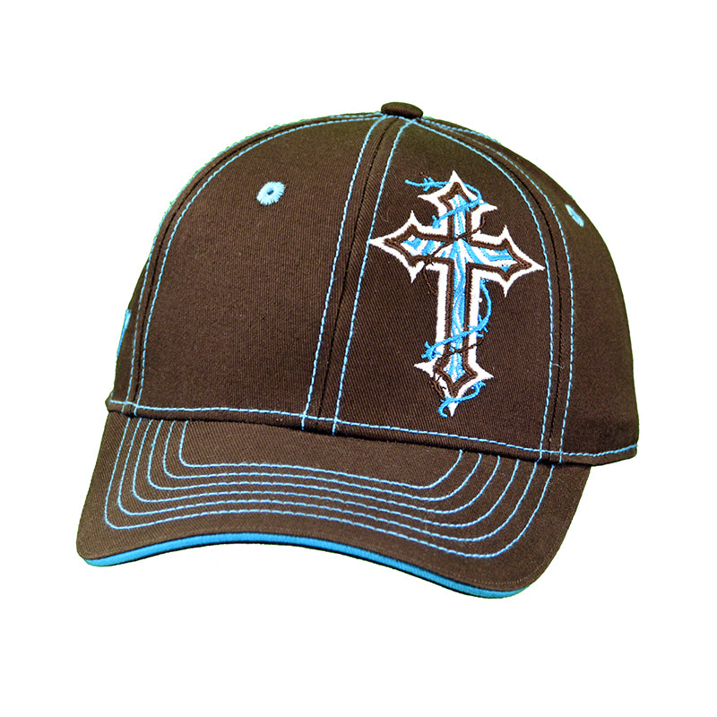Women's Zebra Cross Brown Cap from Cowgirl Hardware