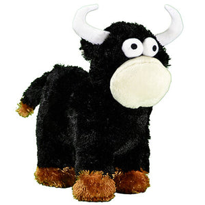 Boy's Plush Play Big Happy Black Bull from Cowboy Hardware