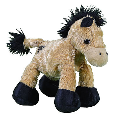 Boy's Plush Play Wobbly Buckskin Pony from Cowboy Hardware