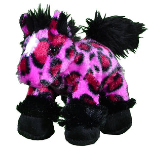 Girl's Plush Play Pink Leopard Horse from Cowgirl Hardware