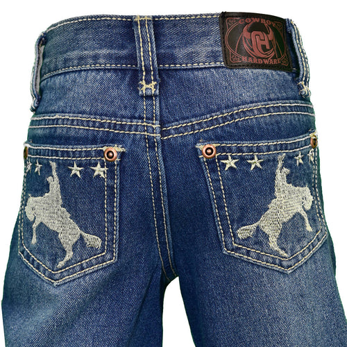 Infant/Toddler Boy's Star Bronc Embroidered Medium Wash Jean from Cowboy Hardware