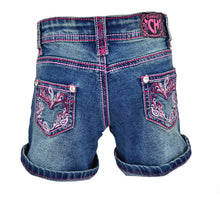 Infant/Toddler Girl's Vine Paisley w/ Pink Medium Wash Jean Shorts from Cowgirl Hardware