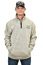 Men's Barbed Skull Speckle Fleece Grey Cadet from Cowboy Hardware with Hat