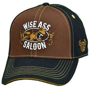Men's Wise Ass Saloon Brown/Black Snapback Cap from Cowboy Hardware
