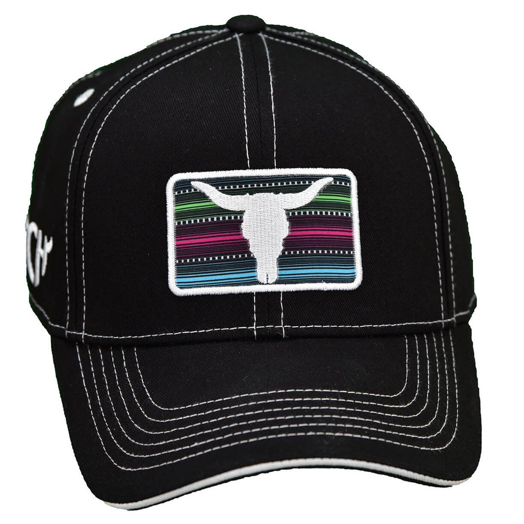 Women's Serape Patch Black Snapback Cap from Cowgirl Hardware