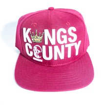 Load image into Gallery viewer, BURGUNDY KINGS COUNTY SNAPBACK