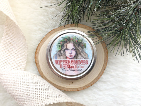 Winter Goddess Cocoa + Peppermint Dry Skin Balm