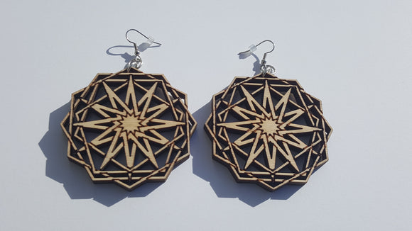 Twelve point earrings