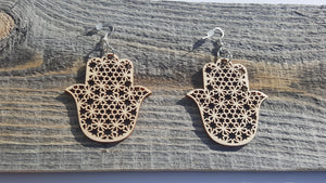 Hamsa hands star earrings