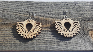 Tri-wing earrings