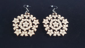 Penrose star earrings