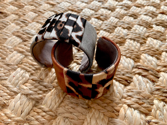 Silk and Leather Bangles
